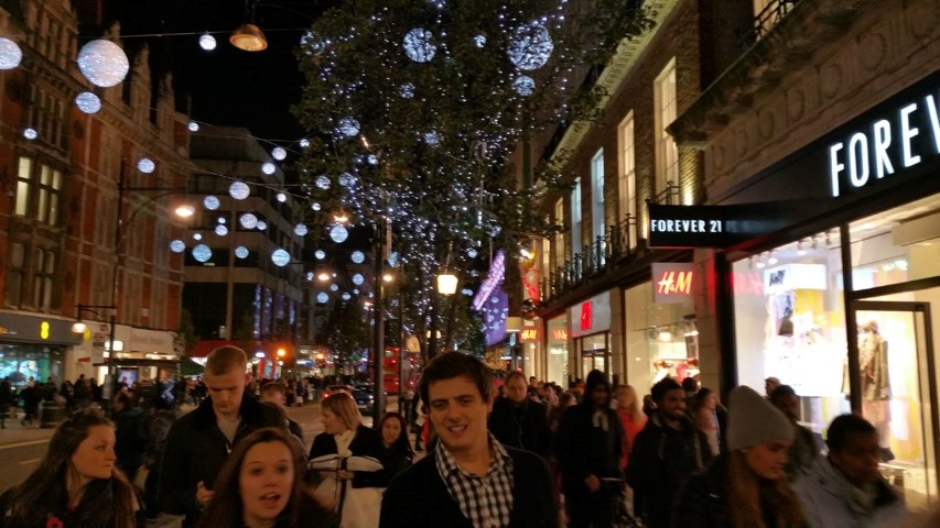 More from Oxford street. Pretty lights.