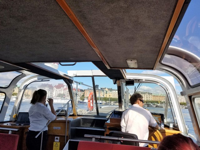 On board the water-taxi - it was the perfect day for this tour!