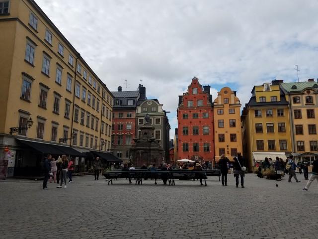 Pretty town square
