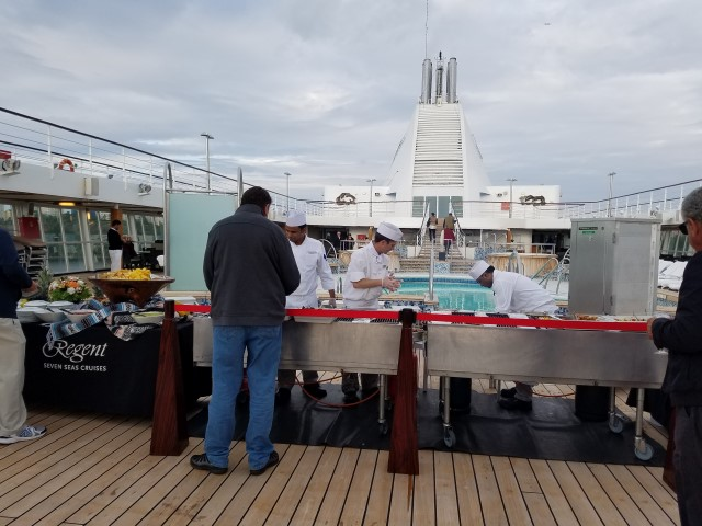 "They were setting up a nice Barbecue for ""Sail Away"""