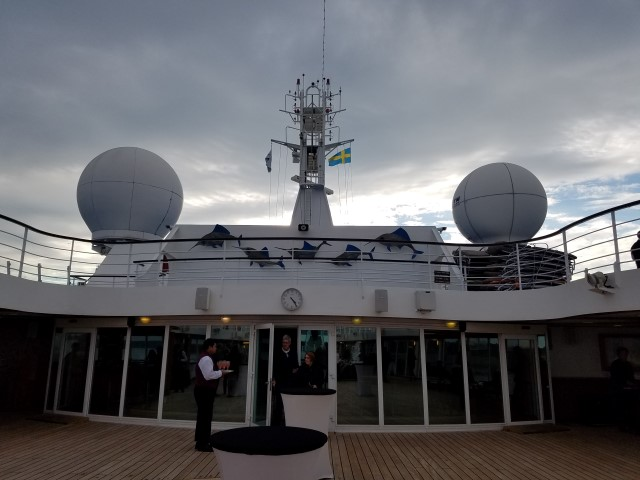 Top deck of the ship