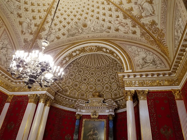 The ceilings had beautiful decorations too