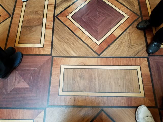 Beautiful inlaid floors