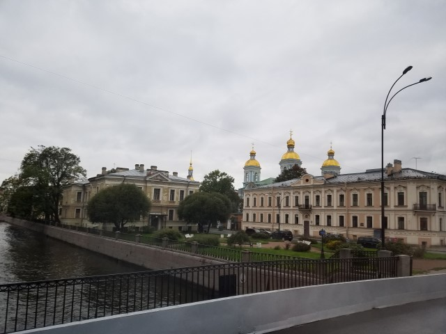 There are many canals and ornate buildings all over St. Petersburg