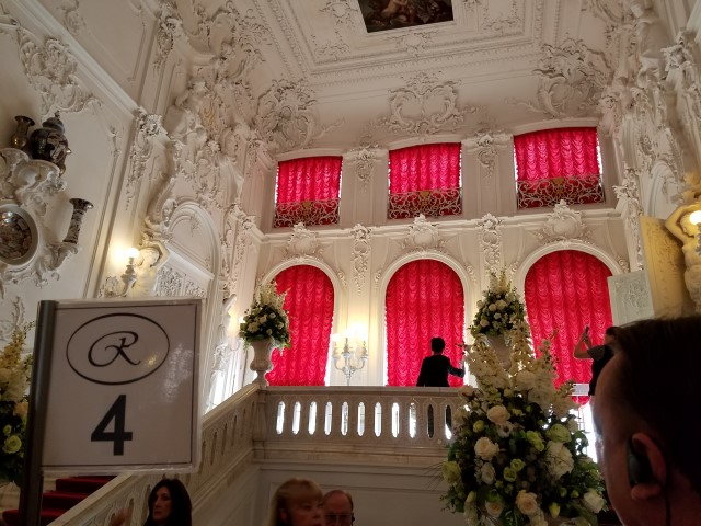 After we checked our coats (it's a THING in Russia, apparently) - we entered the main stairway