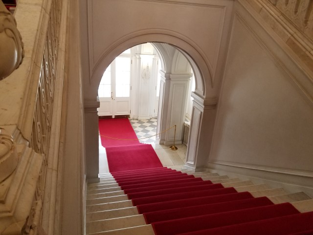 A peek at the 'servant's stairway'