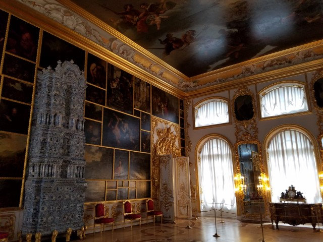 This room was pretty breath taking - so many paintings