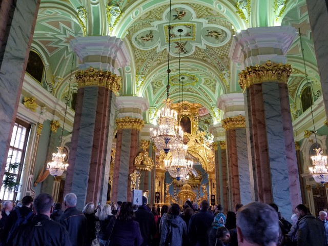 It was so very ornate and beautiful (and crowded) inside