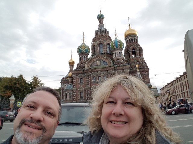 "In front of the ""Church of the spilled blood"""
