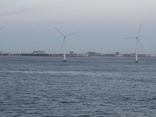 Windmills in the harbor!