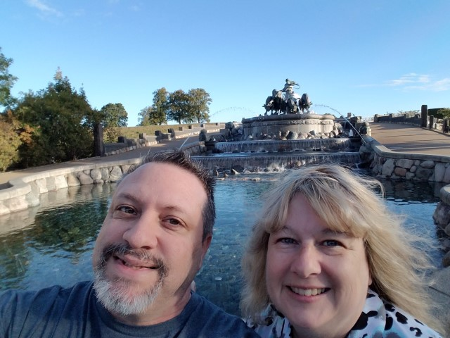 Both of us at the Fountain!