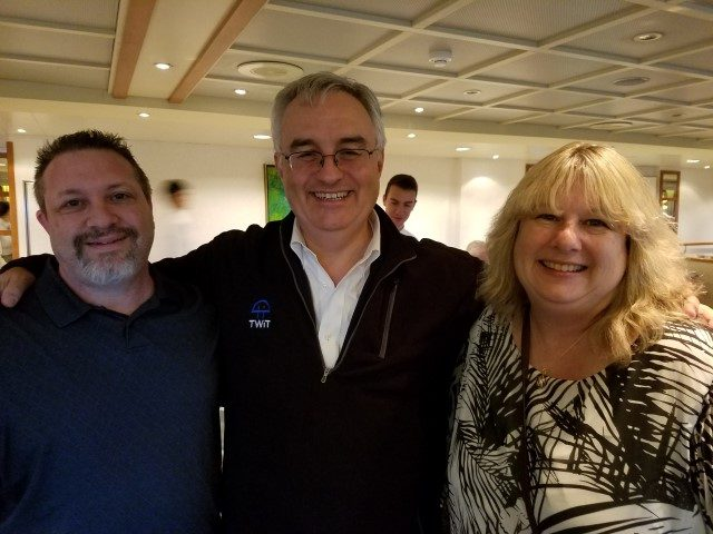 Leo Laporte with Adam and Susan (Thank you Lisa!)